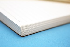 Closeup of a Stack of Paper