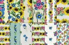 12 floral patterns