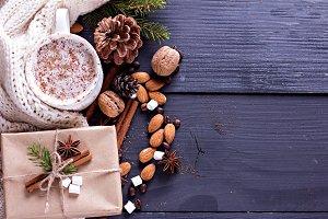 Cocoa, coffee marshmelou