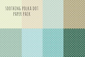 Soothing Polka Dot Paper Pack