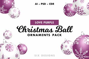 Christmas Ball Ornaments - Purple