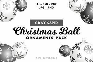Christmas Ball Ornaments - Gray