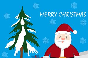 Simple Santa Claus with gifts