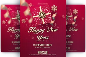 Happy New Year Party Invitation