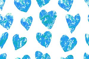 Vintage heart foil. 5 color Patterns