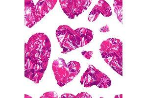 Vintage heart foil. 3 color Patterns