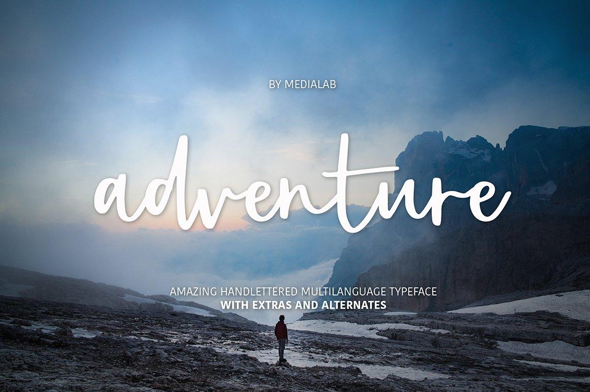 Adventure Script Extras Script Fonts Creative Market