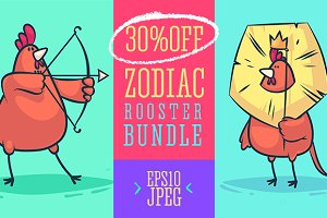 30 OFF - Rooster Zodiac set