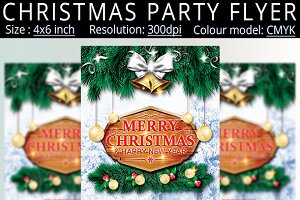 Christmas New Year Party Flyer