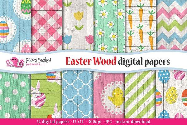 Easter Wood digital paper