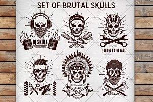 Set of Brutal Skulls