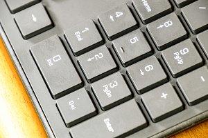 Black slim keyboard computer. A peripheral input device
