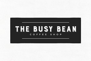 The Busy Bean Premade Logo Template