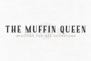 The Muffin Queen Premade Logo Templa