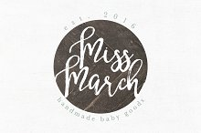 Miss March Premade Logo Template