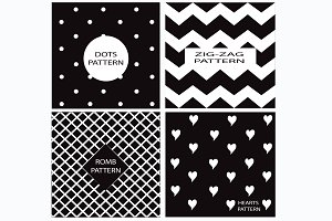 Patterns vector black and white