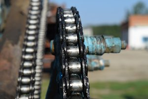 Lubricated salidolom chain chain transmission