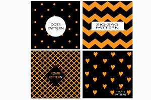Patterns vector orange and black