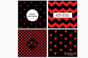 Patterns vector red and black