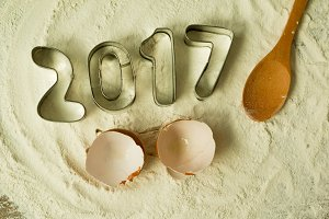 Happy New year 2017 cooking