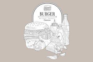 Fast Food Hand Drawn Design