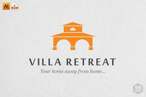 Villa Retreat Logo Template