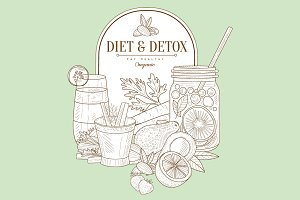 Diet And Detox Healthy Food