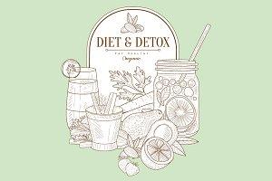 Diet And Detox Healthy Food