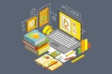 Vector concept for online education