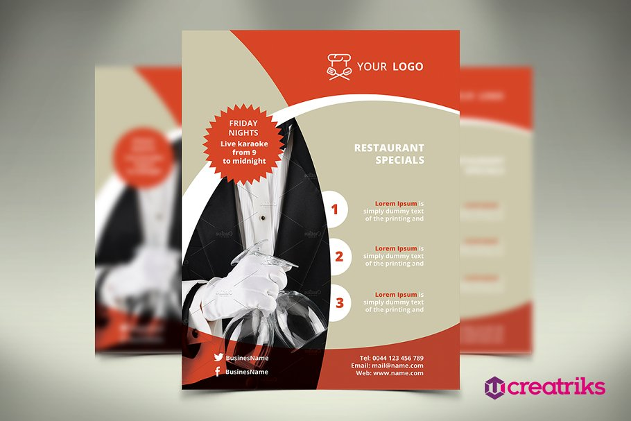 Restaurant Flyer in Flyer Templates - product preview 8