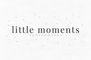 Little Moments Premade Logo Template