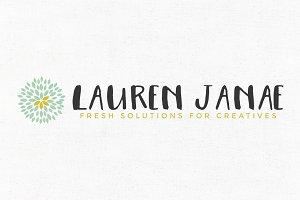 Lauren Janae Premade Logo Template