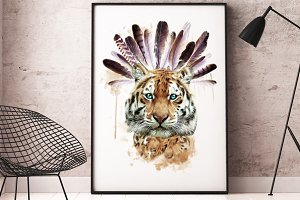 Tiger illustration/T-shirt Graphics