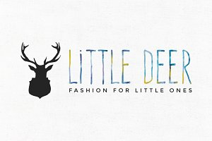 Little Deer Premade Logo Template