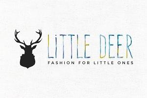 Little Deer Premade Logo Template