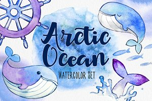 Arctic Ocean Watercolor Set