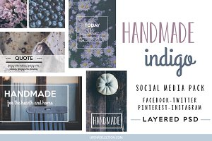 Social Media Pack: HANDMADE indigo