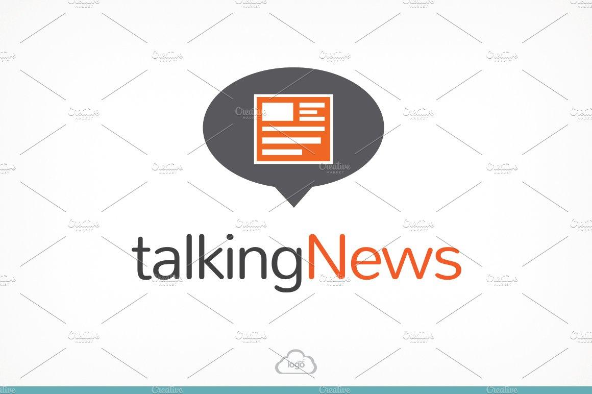 Talking news logo template logo templates creative market maxwellsz