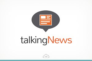 Talking News Logo Template