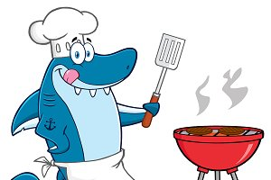 Chef Blue Shark With Roasted Burgers
