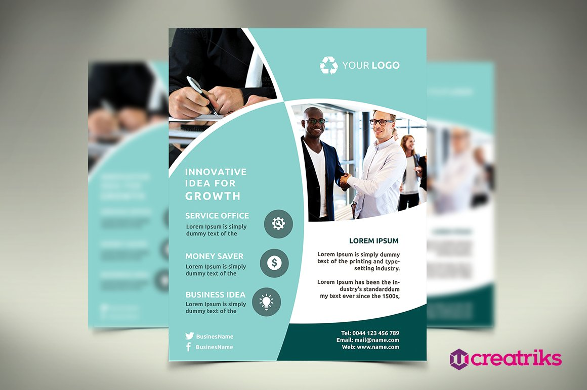 business flyer flyer templates on creative market