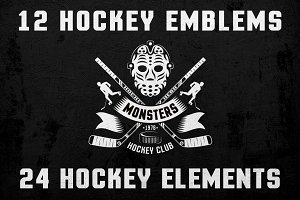 Hockey Logo on Dark