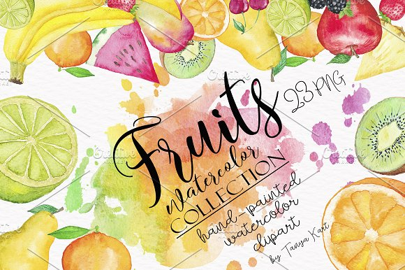 Fruit Watercolor Collection
