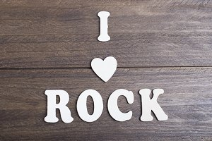 Letters messaging I love rock