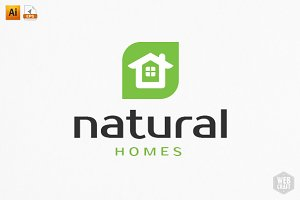 Natural Homes Logo Template