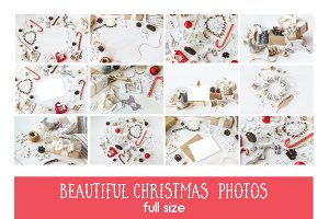 Pack of 12 Vintagy Christmas Photos