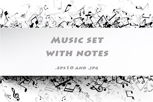 Music set with notes
