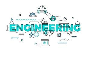 Engineering vector flat concept