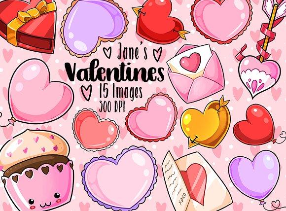Kawaii Valentines Day Clipart