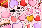 Kawaii Valentines Day Clipart